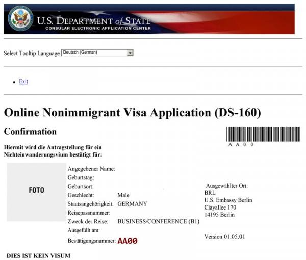 Ds 160 Form Online Nonimmigrant Visa Application
